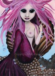 Art: Porcelain Mermaid by Artist Misty Benson