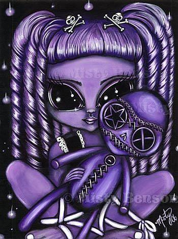 Art: Poison Purple by Artist Misty Monster (Benson)