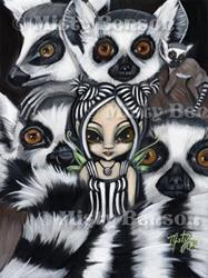 Art: She Talks to Lemurs by Artist Misty Benson