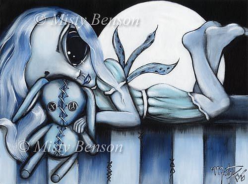 Art: Beautiful Blue by Artist Misty Monster (Benson)