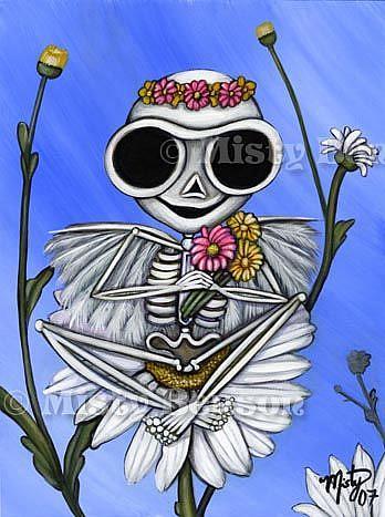 Art: Springtime Skelly by Artist Misty Monster (Benson)