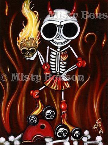 Art: La Muerte Llameante by Artist Misty Monster (Benson)