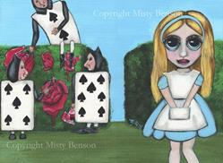 Art: Alice , the Cards, and a Can of Paint by Artist Misty Benson
