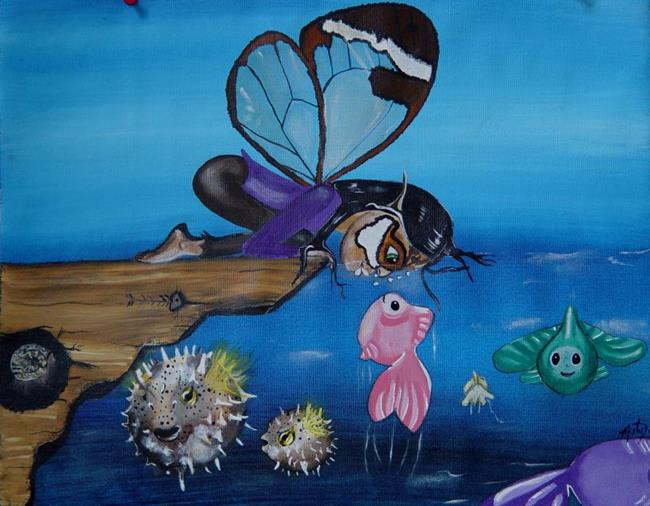 Art: Greta Glasswing Discovers the Sea by Artist Misty Monster (Benson)