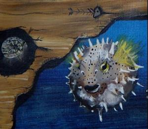Detail Image for art Greta Glasswing Discovers the Sea