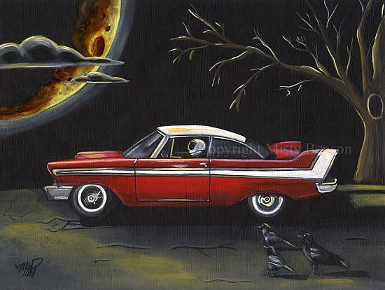 Art: Moonlight Drive by Artist Misty Monster (Benson)