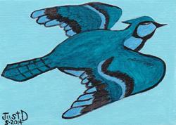 Art: Bird in Flight by Artist Dee Turner