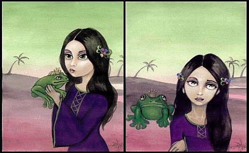 Art: Sometimes a Frog is Just a Frog by Artist Jasmine Ann Becket-Griffith