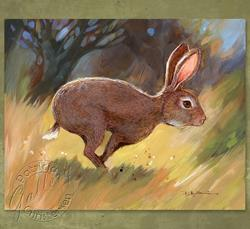 Art: Run Rabbit Run! by Artist Patricia  Lee Christensen
