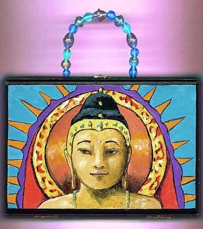 Art: Buddha Cigar Box Purse by Artist April