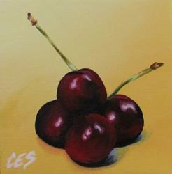 Art: Pile O' Cherries by Artist Christine E. S. Code ~CES~