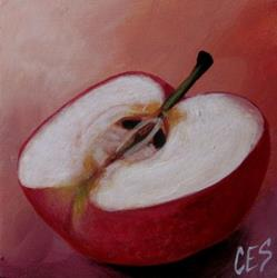 Art: Apple Half by Artist Christine E. S. Code ~CES~