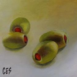 Art: Olives by Artist Christine E. S. Code ~CES~