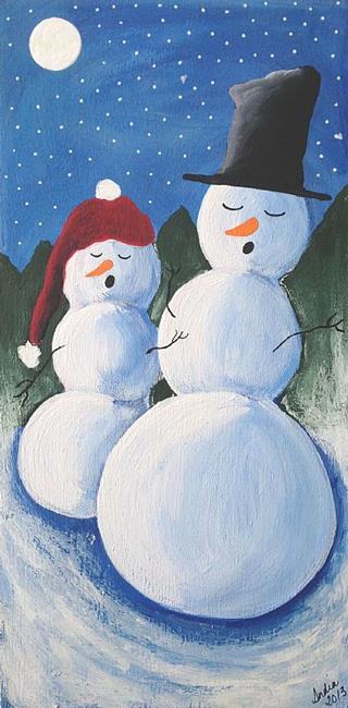 Art: Drowsy Snowmen by Artist Indiamoss