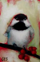Art: Chickadee Cheer by Artist Christine E. S. Code ~CES~