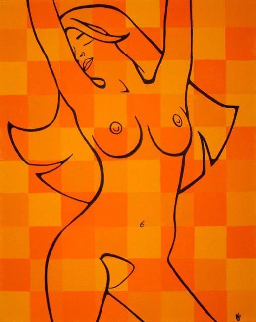 Art: Orange Bliss (Vibrant, Refreshing, and Warm) by Artist Kris Jean