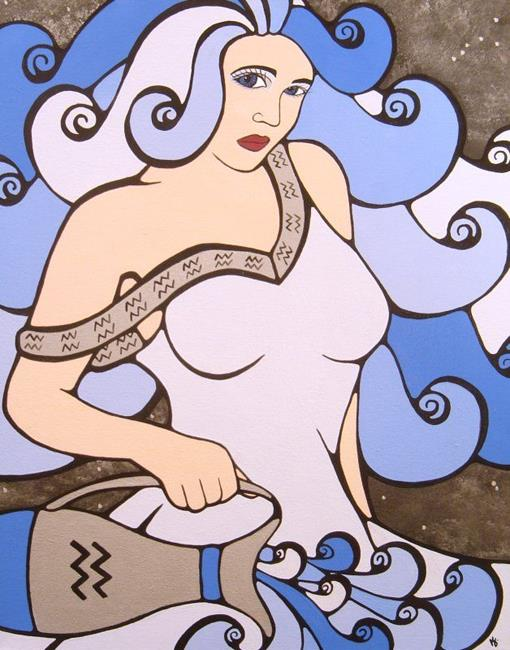 Art: Aquarius: The Water Bearer by Artist Kris Jean