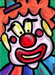 Art: Clown (Incognito) by Artist Amanda Hone