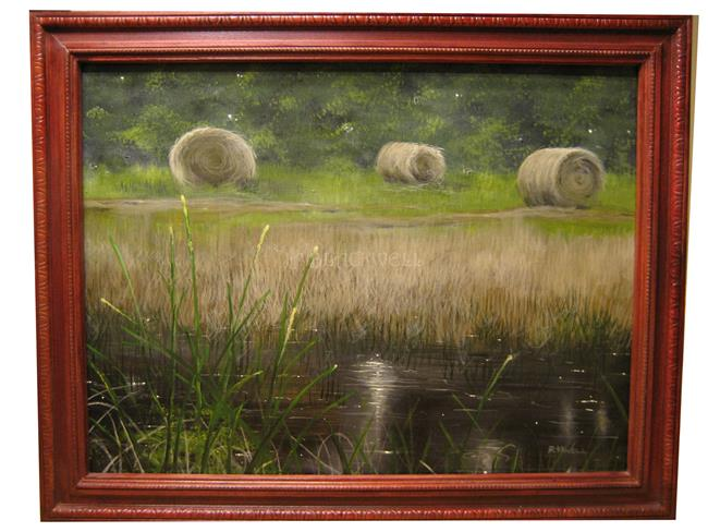 Art: Raindrops in the Wiregrass by Artist J A Blackwell