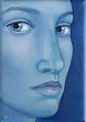 Art: Blue - sold by Artist Gintare Bruzas