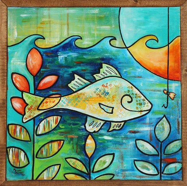 Art: White Perch Bait by Artist Melanie Douthit
