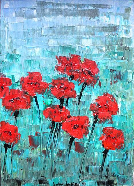 Art: Red Carnations (s) by Artist Luba Lubin