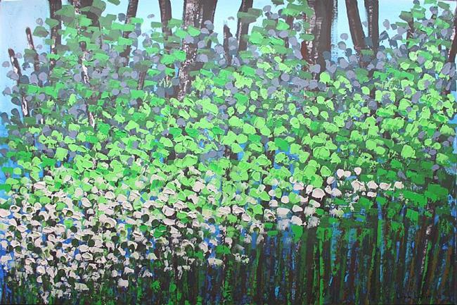 Art: Spring Forest 100x150x4 (s) by Artist Luba Lubin