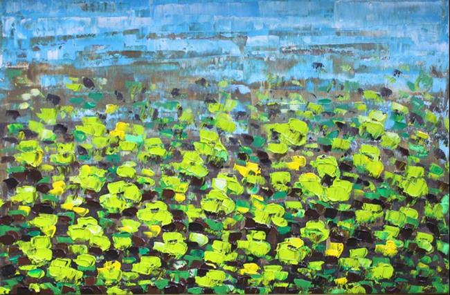 Art: Lime Green Flowers (s) by Artist Luba Lubin