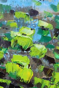 Detail Image for art Lime Green Flowers (s)