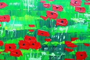 Detail Image for art Red Poppy Field (s)