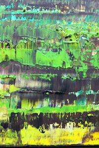 Detail Image for art Lime Green Brown Abstraction (s)