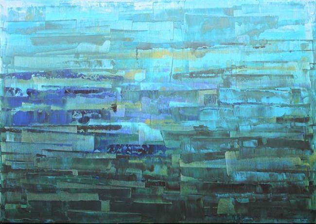 Art: Blue Abstraction 109 (s) by Artist Luba Lubin