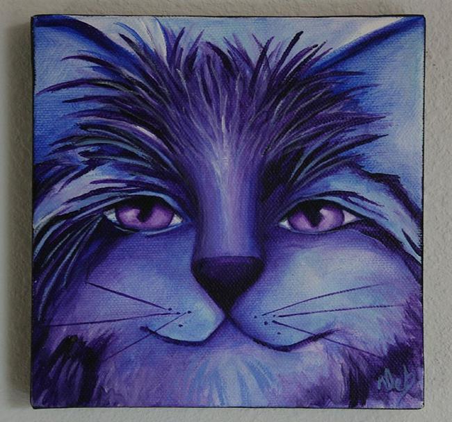 Art: Blue Cat III by Artist Deb Harvey