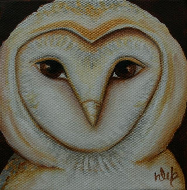 Art: Barn Owl by Artist Deb Harvey