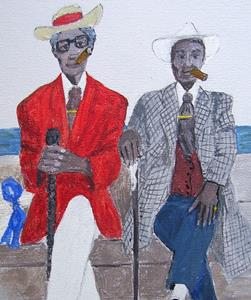 Detail Image for art Two Gentlemen of Havana - Print only