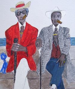 Detail Image for art Two Gentlemen of Havana - Print only