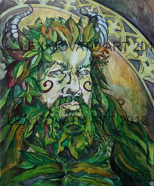 Art: Green Man by Artist Alexis Covato
