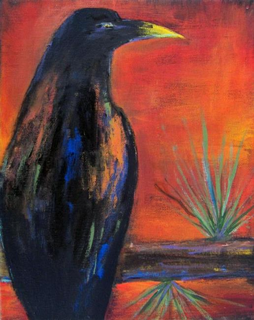 Art: crow by Artist Diane Funderburg Deam