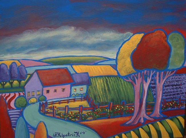 Art: Pink Trees Farm by Artist Virginia Kilpatrick