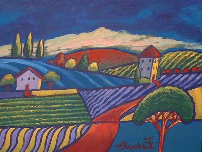 Art: Red Road by Artist Virginia Kilpatrick