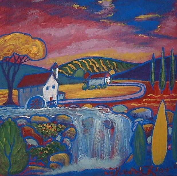 Art: Mill Stream by Artist Virginia Kilpatrick