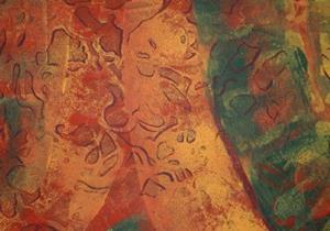 Detail Image for art  Orange Textured Abstract