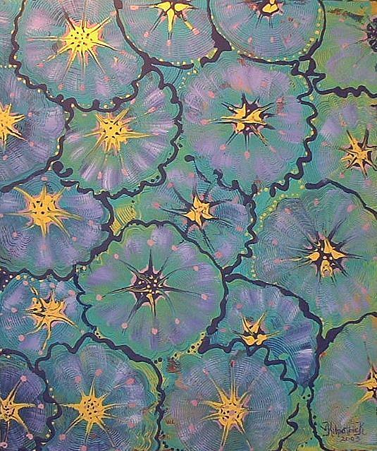 Art: Abstract Waterlilies by Artist Virginia Kilpatrick
