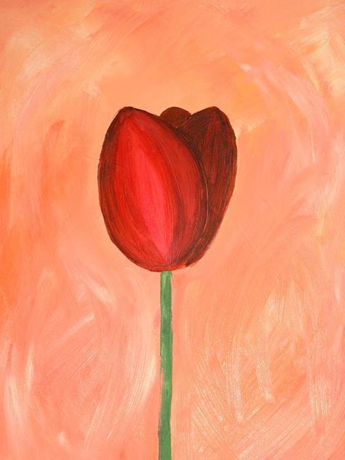 Art: Red Tulip (NFS) by Artist Julie Hollis