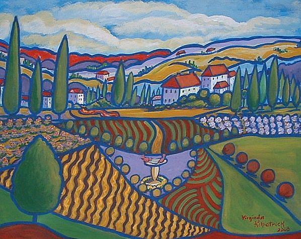 Art: Jardins De Village by Artist Virginia Kilpatrick