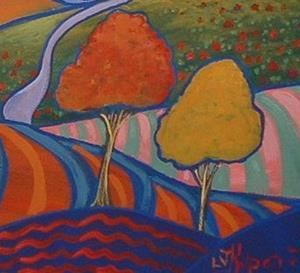 Detail Image for art Orange Sky Yellow Road