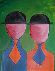 Art: Faceless Bureaucrats by Artist Julie Hollis