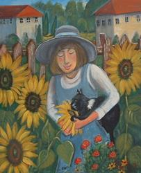Art: Stop & Smell The Sunflowers by Artist Virginia Kilpatrick