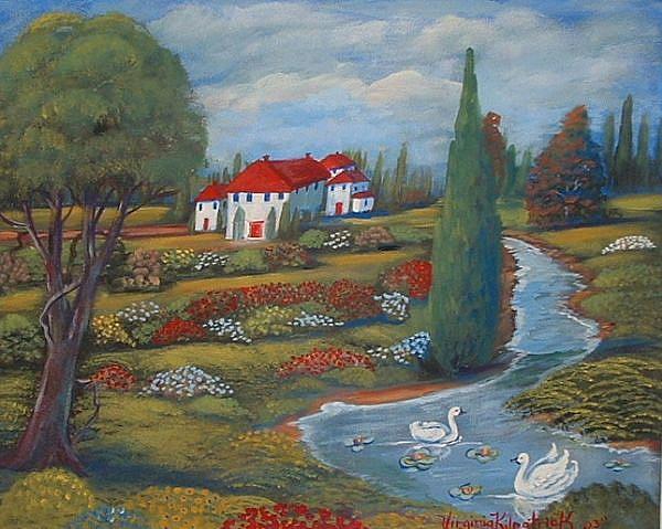 Art: Swan Villa by Artist Virginia Kilpatrick