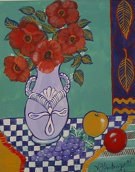 Art: Vase Of Poppies by Artist Virginia Kilpatrick